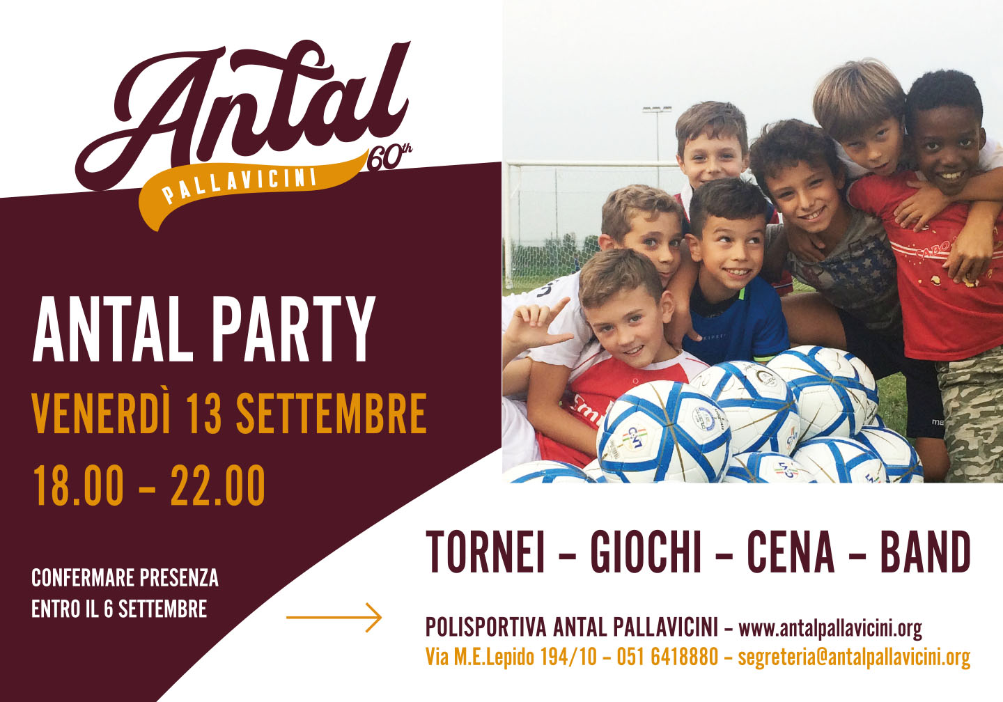 Antal Party 13 settembre 2019
